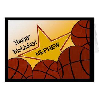 Sobrino - sobrino cariñoso del baloncesto del tarjeta de felicitación