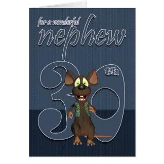 Sobrino - trigésimo ratón de la tarjeta de cumplea
