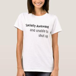 Social torpe camiseta