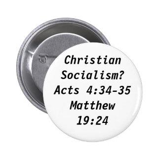 ¿Socialismo cristiano? Chapa Redonda 5 Cm