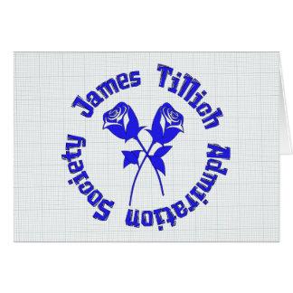 Sociedad de la admiración de James Tillich Tarjeta De Felicitación