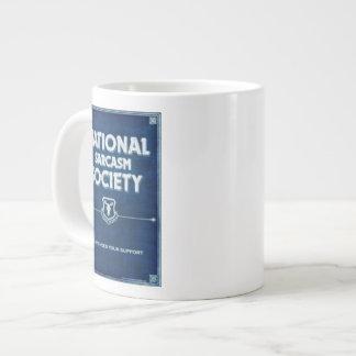 Sociedad nacional del sarcasmo taza de café grande