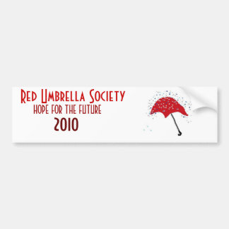 Sociedad roja del paraguas pegatina de parachoque