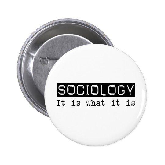 Sociología es chapa redonda de 5 cm