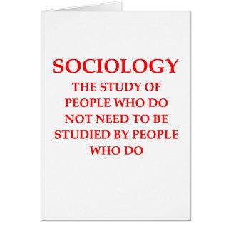 sociología tarjeta de felicitación