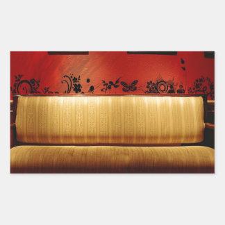 Sofá artístico fino diario abstracto pegatina rectangular