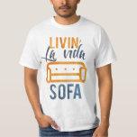 Sofá del vida del la de Livin Camiseta