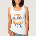 Sofá del vida del la de Livin Camiseta De Tirantes Básica