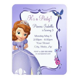 Sofía la primera invitación del cumpleaños