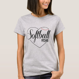 "Softball Shirt ""Pitcher "" Camiseta"
