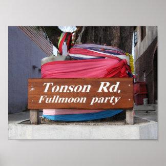 Soi Tonson, fiesta de Phangan… Fullmoon de la KOH Póster