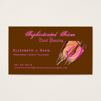 Soiree sofisticado tarjeta de negocios