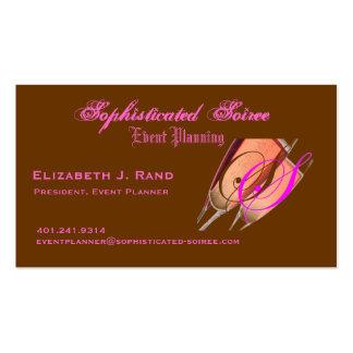 Soiree sofisticado tarjetas de visita