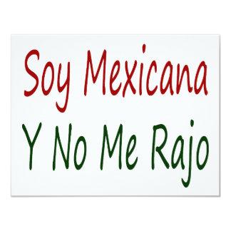 Soja Mexicana Y ningún yo Rajo Invitacion Personalizada