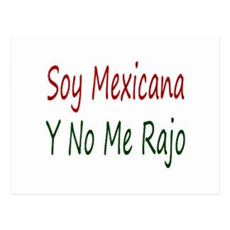 Soja Mexicana Y ningún yo Rajo Tarjetas Postales