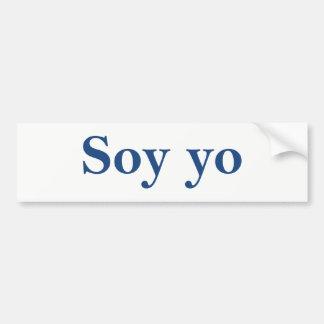 Soja Yo (soy) Pegatina Para Coche