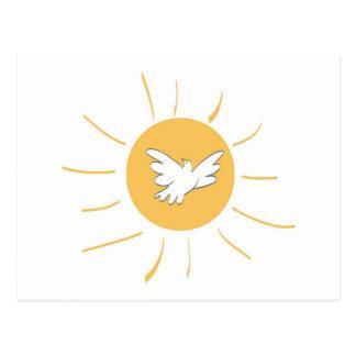 Sol y paloma postal