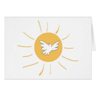 Sol y paloma tarjeta de felicitación