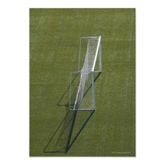 Sola meta del fútbol invitación 12,7 x 17,8 cm
