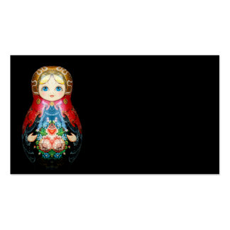 Sola muñeca rusa tarjetas de visita