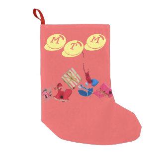 Solamente almacenamiento coralino del navidad del calcetín de navidad pequeño