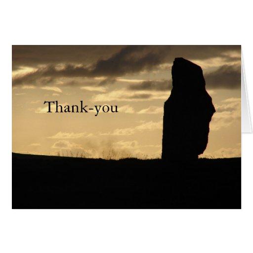 Solamente en la tarjeta del de agradecimiento de l