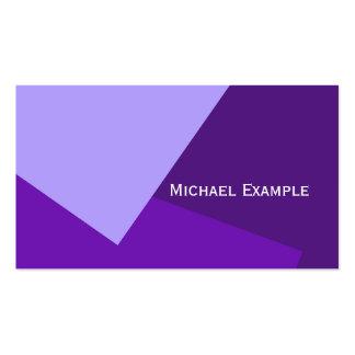 Solamente fondo del color - púrpura violeta + sus tarjetas de visita