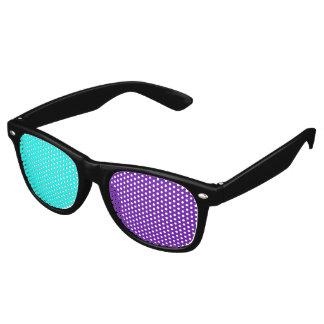 Solamente fondo del color - turquesa y púrpura gafas de fiesta