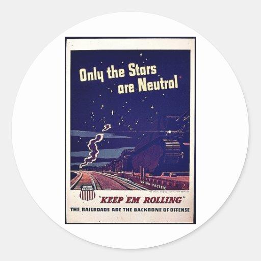Solamente las estrellas son neutrales pegatinas