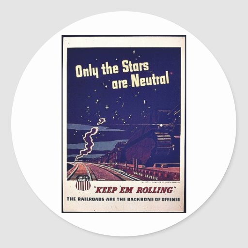 Solamente las estrellas son neutrales pegatinas redondas