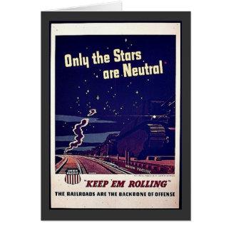 Solamente las estrellas son neutrales felicitación