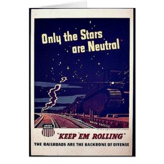 Solamente las estrellas son neutrales felicitaciones