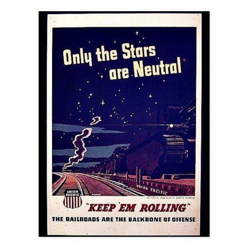 Solamente las estrellas son neutrales postal