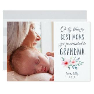 Solamente las mejores mamáes consiguen promovidas invitación 12,7 x 17,8 cm