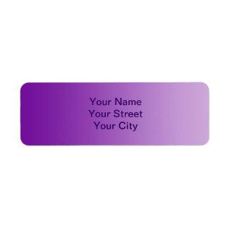 SOLAMENTE pendientes del COLOR - púrpura Etiqueta De Remite