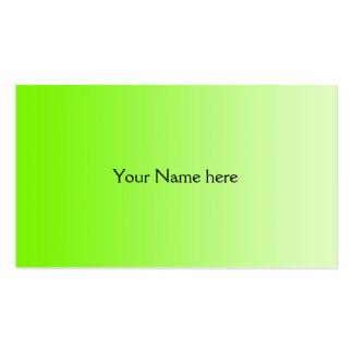 SOLAMENTE pendientes del COLOR - verde del neón Tarjeta De Visita