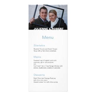 Solamente usted menú moderno del boda de la foto tarjetas publicitarias a todo color