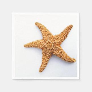 Solas estrellas de mar del azúcar servilletas de papel