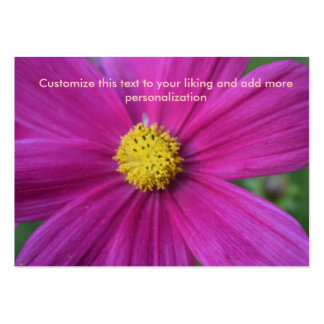 Solas tarjetas de visita de la flor