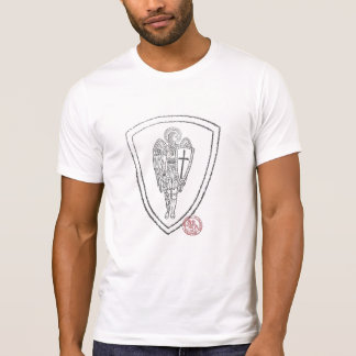 Soldado cristiano hacia adelante camiseta