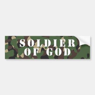 Soldado de dios pegatina para coche