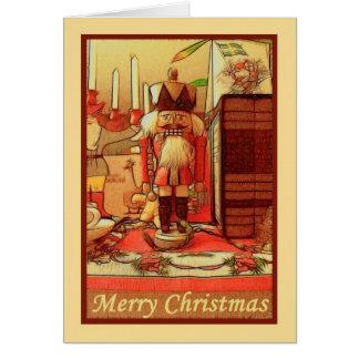 Soldado de juguete de las Felices Navidad a la Tarjeta