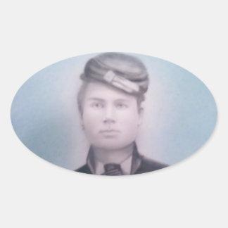 Soldado de la guerra civil pegatina ovalada