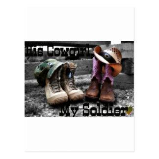 Soldado de la vaquera postal