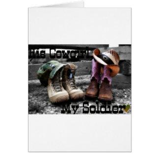 Soldado de la vaquera tarjeta de felicitación
