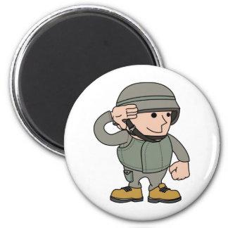 soldado de sexo masculino iman