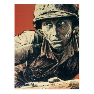 Soldado de WWII Postal