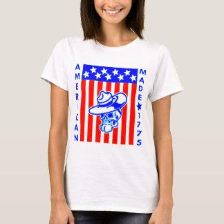 Soldado hecho americano 1775 de la bandera del camiseta