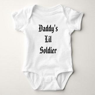 soldado infantil del lil de Daddys del bebé 6mo Body Para Bebé