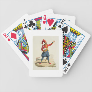 Soldado turco, de los 'trajes del diverso nacional cartas de juego
